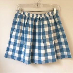 {j crew} gingham skirt